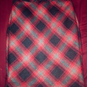 The Limited Plaid Wool Skirt with Lining